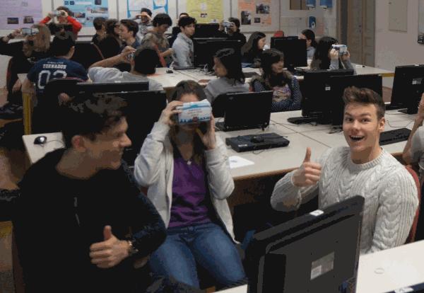 360° posnetki skozi izobraževanje